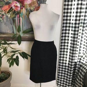 J. Crew Factory black lace pencil skirt sz 12 i14